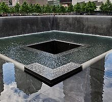 Ground Zero memorial pool by Gary Eason