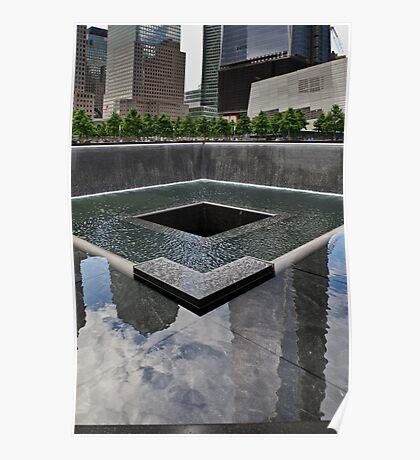 Ground Zero memorial pool Poster
