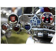VESPA BAR BAR BADGES. Poster