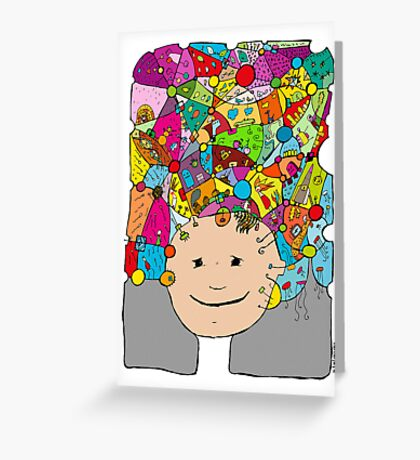 all the world in my head Greeting Card