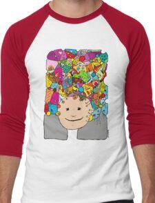 all the world in my head Men's Baseball ¾ T-Shirt