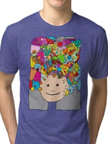 all the world in my head Tri-blend T-Shirt