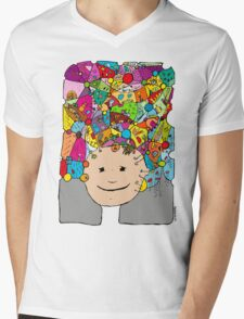 all the world in my head Mens V-Neck T-Shirt