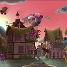 Ponyville, Dawn by Stinkehund