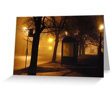 On a Foggy Evening Greeting Card