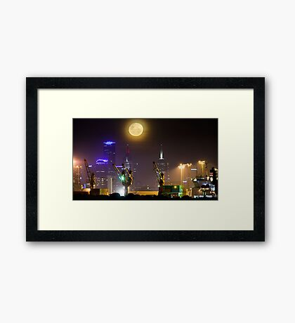 Moonrise over Melbourne Framed Print