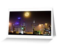 Moonrise over Melbourne Greeting Card