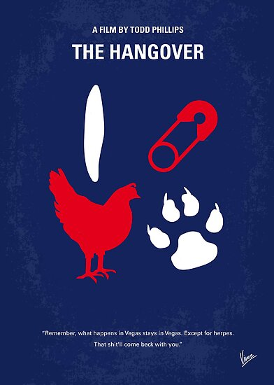 No145 My THE HANGOVER Part I minimal movie poster by Chungkong