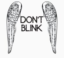 [Doctor Who] Don't Blink - Wings (Black) One Piece - Short Sleeve