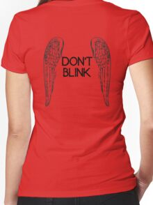 [Doctor Who] Don't Blink - Wings (Black) Women's Fitted V-Neck T-Shirt