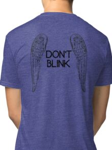 [Doctor Who] Don't Blink - Wings (Black) Tri-blend T-Shirt