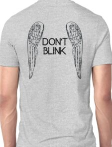[Doctor Who] Don't Blink - Wings (Black) Unisex T-Shirt