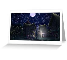 Ponyville, Night Greeting Card
