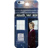 Christmas style 12th Doctor and TARDIS iPhone Case/Skin