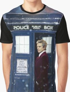 Christmas style 12th Doctor and TARDIS Graphic T-Shirt