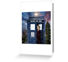 Christmas style 12th Doctor and TARDIS Greeting Card