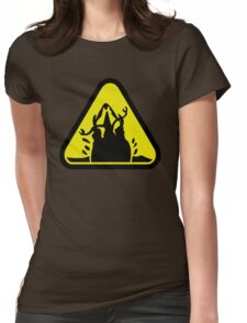 Beware of the Graboid! Womens Fitted T-Shirt