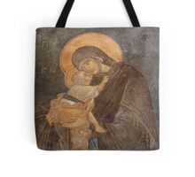 Virgin Mary and Son Tote Bag