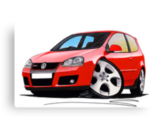 VW Golf GTi (Mk5) Red Canvas Print