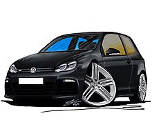 VW Golf R Black Photographic Print