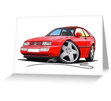 VW Corrado Red Greeting Card