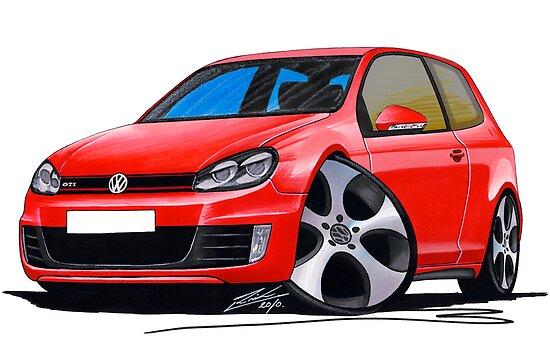 VW Golf GTi (Mk6) Red by Richard Yeomans