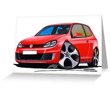 VW Golf GTi (Mk6) Red Greeting Card