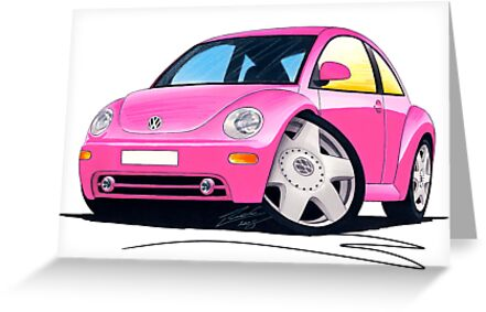 VW New Beetle Pink by Richard Yeomans