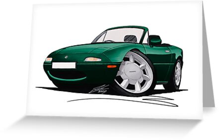 Mazda MX5 (Mk1) British Racing Green by Richard Yeomans