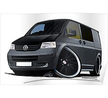 VW T5 (A) Grey Poster