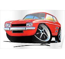 Ford Capri (Mk1) Red Poster