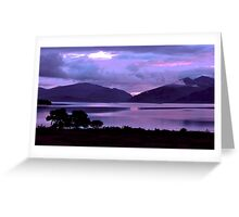Dusk in the Highlands Greeting Card