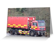 Fire and Rescue  Greeting Card