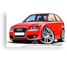 Audi S3 (Mk2) Red Canvas Print