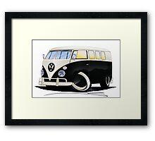 VW Splitty (11 Window) Black Framed Print