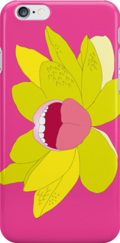 Flower Mouth Pink by Michelle Liebenberg