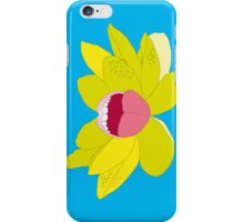 Flower mouth Blue iPhone Case/Skin