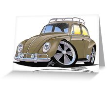 VW Beetle (Custom G) Greeting Card