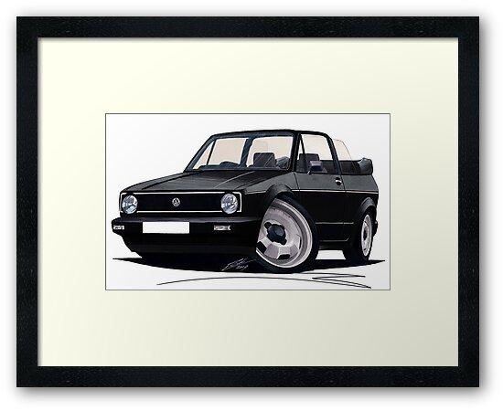 VW Golf (Mk1) Cabriolet Black by Richard Yeomans