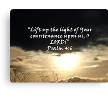 """""""Psalm 4:6""""  by Carter L. Shepard Canvas Print"""