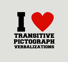 I heart transitive pictograph verbalizations Unisex T-Shirt