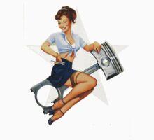Vintage War Mechanic Pin Up Kids Clothes