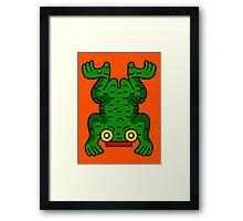 Aztec Frog Framed Print