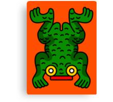Aztec Frog Canvas Print