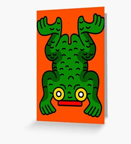 Aztec Frog Greeting Card