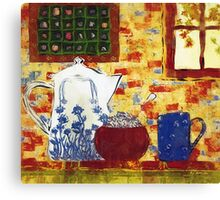 Breakfast with Pearl Jam Canvas Print