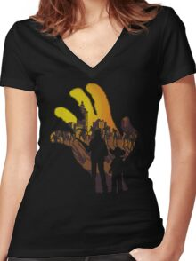 We are the walking dead. Women's Fitted V-Neck T-Shirt