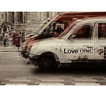 love london cabbies Photographic Print