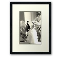 The Groom Stands Humbly in the Background Framed Print