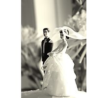 The Groom Stands Humbly in the Background Photographic Print